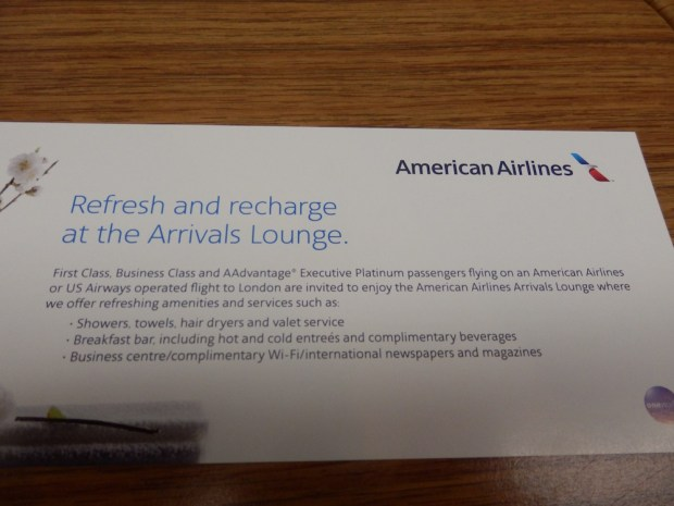 VOUCHER FOR ACCESS TO THE ARRIVAL LOUNGE