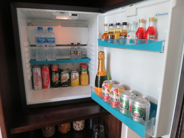 DELUXE ROOM: COMPLIMENTARY MINIBAR