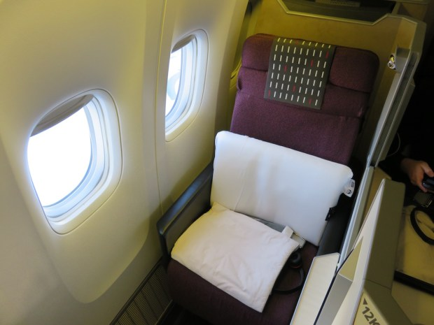 BUSINESS CLASS SEAT 12K