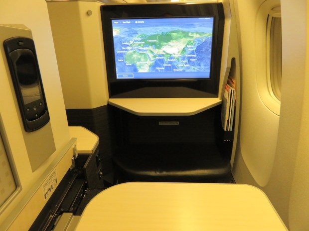 BUSINESS CLASS SEAT 12K (AFTER TAKEOFF)