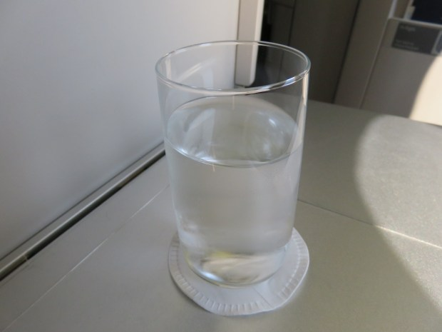 GLASS OF WATER BEFORE TAKEOFF