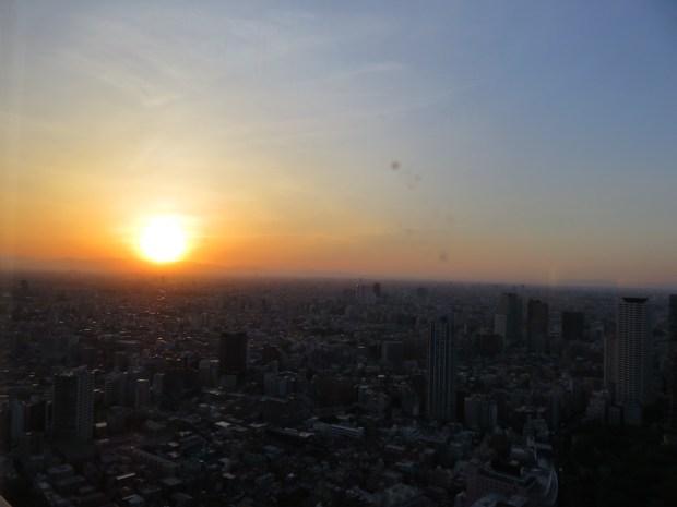 MAIN LOBBY: VIEW AT SUNSET
