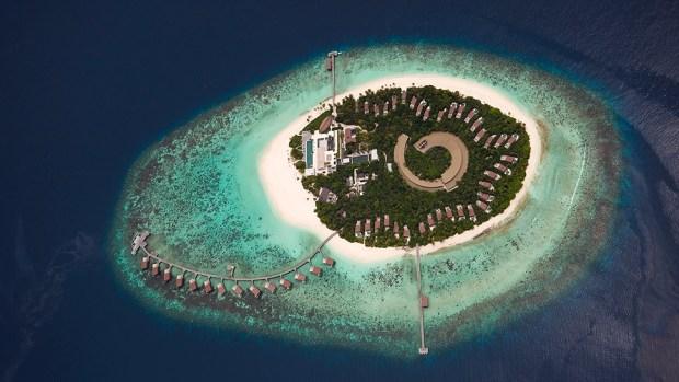 PARK HYATT MALDIVES AERIAL VIEW