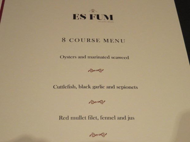 DINNER AT ES FUM RESTAURANT