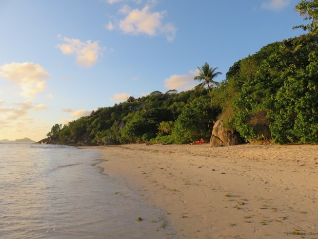 ANSE LOUIS BEACH AT SUNSET