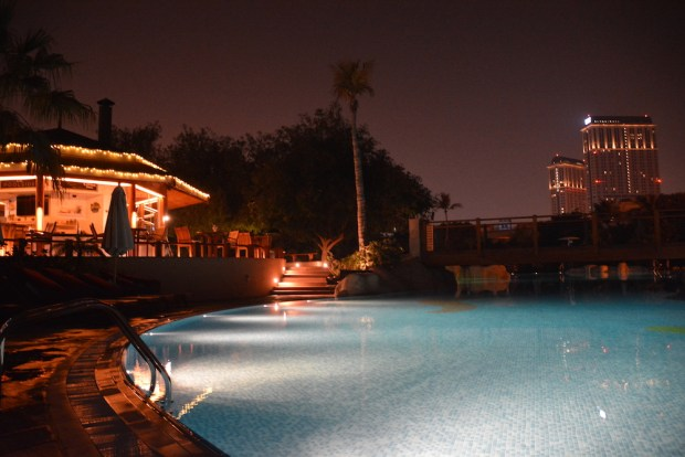 OUTDOOR POOLS AT NIGHT
