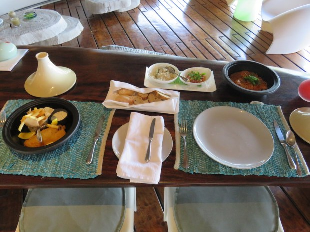 LUNCH ON THE VILLA'S OUTDOOR DECK