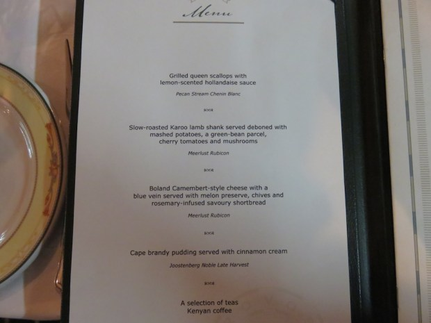 DAY ONE: DINNER