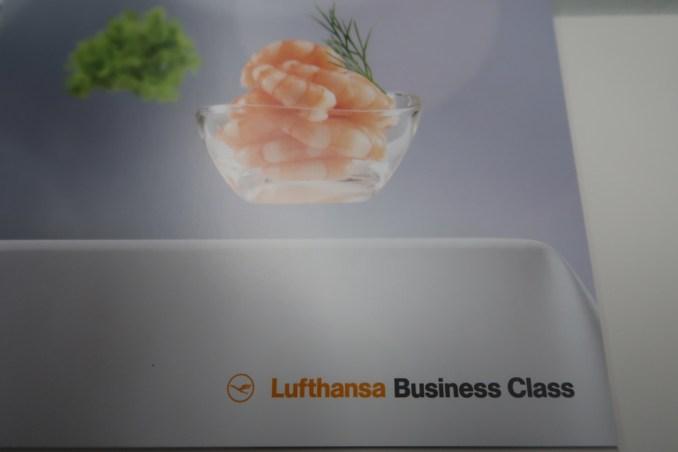 LUFTHANSA BUSINESS CLASS MENU