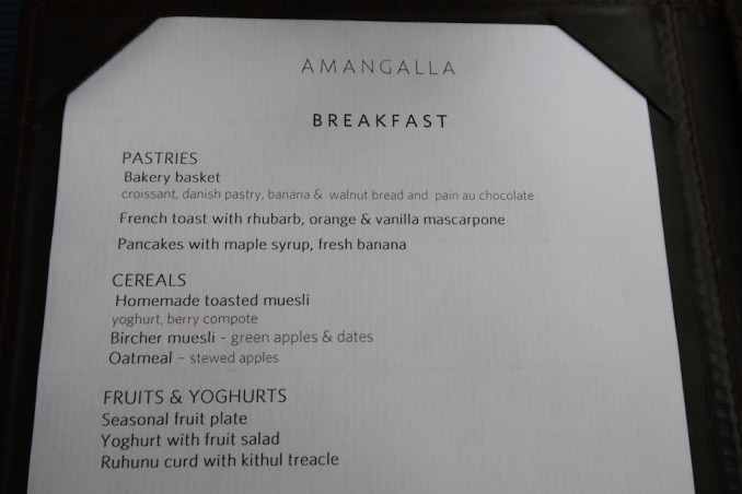 AMANGALLA BREAKFAST