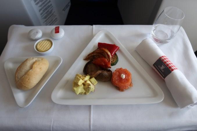 AUSTRIAN AIRLINES BUSINESS CLASS LUNCH: STARTER