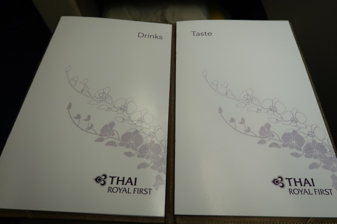 THAI AIRWAYS B747 FIRST CLASS WINE LIST