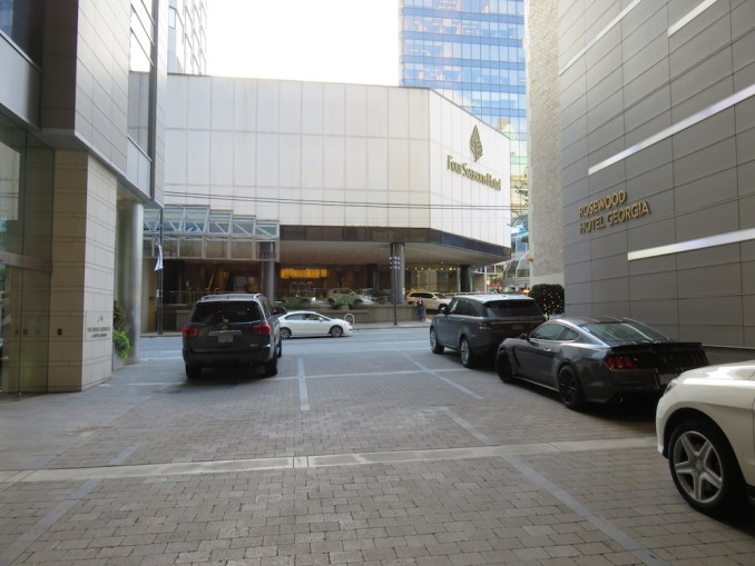 ROSEWOOD HOTEL GEORGIA: CAR PARK ENTRANCE