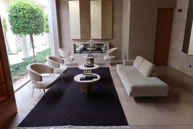 AMANZOE SPA: RECEPTION AREA