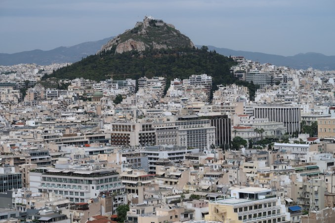 ACROPOLIS: VIEW OVER CITY (AND HOTEL)