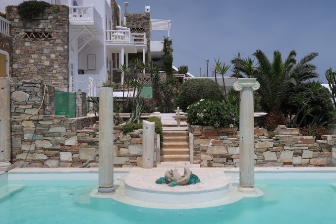 KIVOTOS MYKONOS: POOL AT INNER COURTYARD