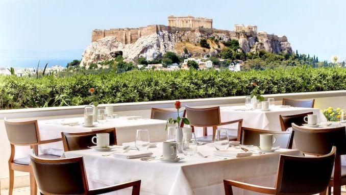 GB ROOF GARDEN, GRANDE BRETAGNE HOTEL, ATHENS, GREECE