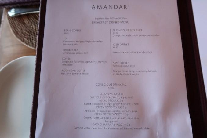 AMANDARI: RESTAURANT - BREAKFAST