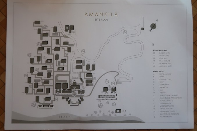AMANKILA: RESORT MAP