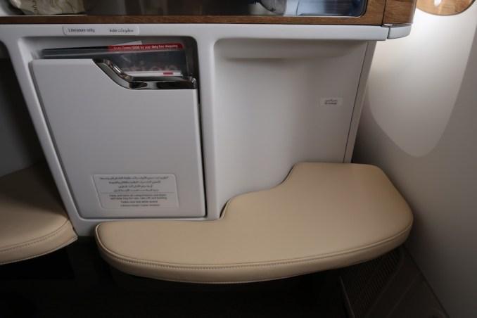 EMIRATES B777 BUSINESS CLASS SEAT: OTTOMAN