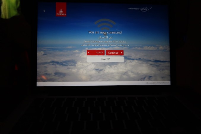 EMIRATES B777 BUSINESS CLASS WIFI