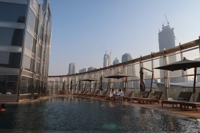 ARMANI HOTEL DUBAI: POOL DECK (AT SUNSET)