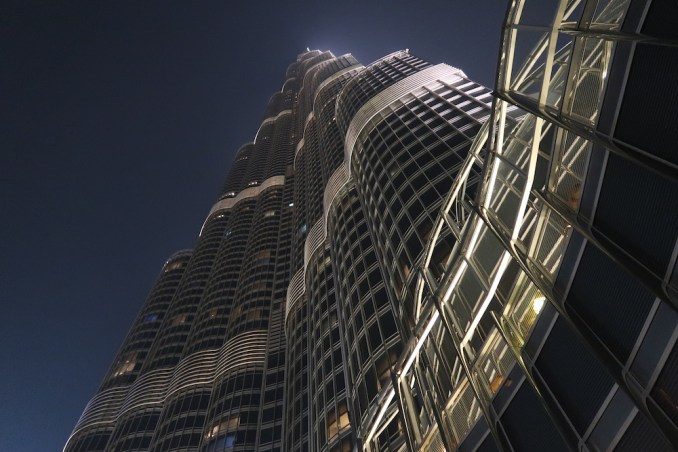 ARMANI HOTEL DUBAI AT NIGHT
