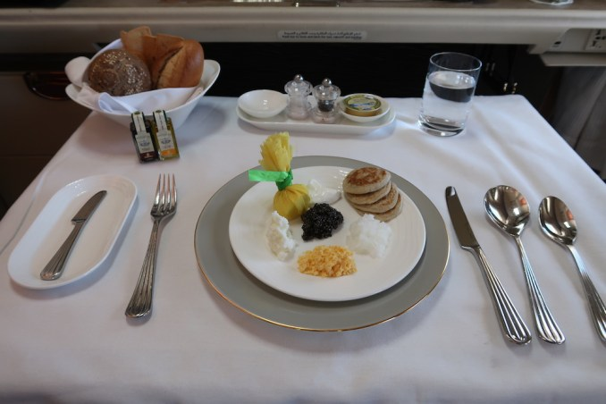 EMIRATES B777 FIRST CLASS: LUNCH