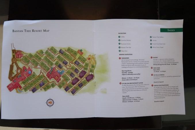 BANYAN TREE UNGASAN: RESORT MAP