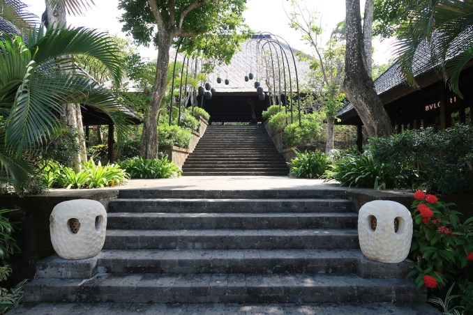 BULGARI BALI: STAIRCASE TO WEDDING CHAPEL