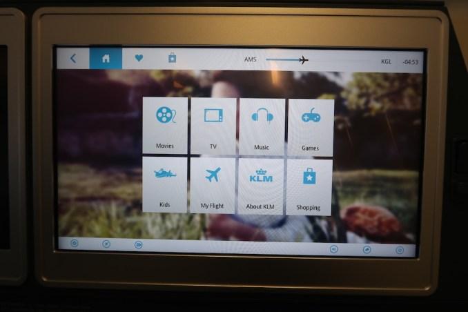 KLM A330 BUSINESS CLASS: INFLIGHT ENTERTAINMENT