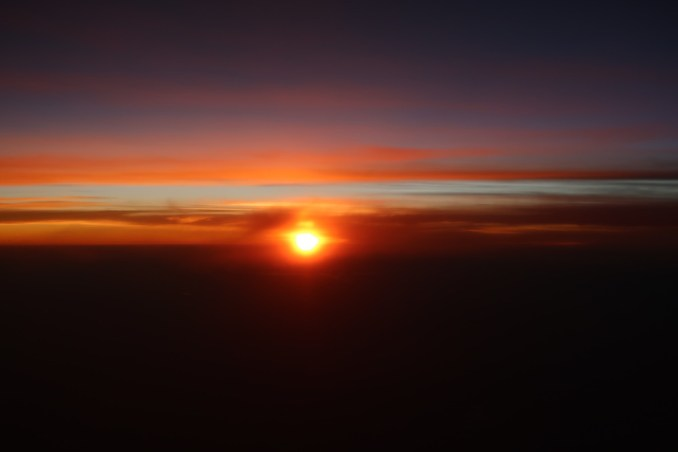 KLM A330: VIEW OF THE SUNSET