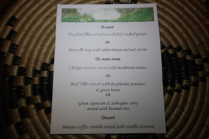BISATE LODGE: DINNER