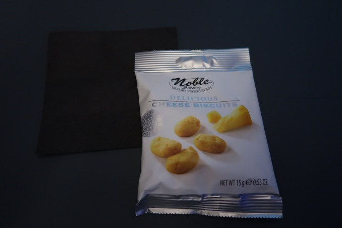 KLM A330 BUSINESS CLASS: CHEESE BISCUITS