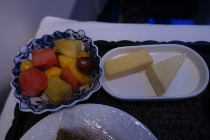 KLM A330 BUSINESS CLASS: BREAKFAST