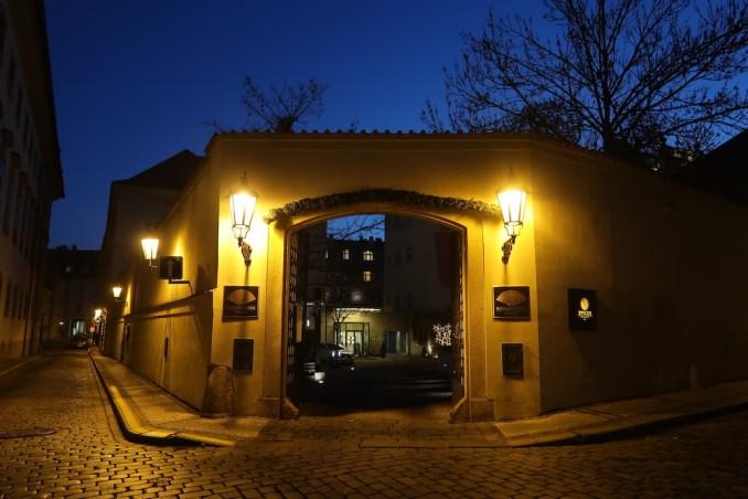MANDARIN ORIENTAL PRAGUE AT NIGHT