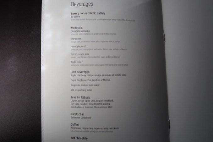 QATAR AIRWAYS A350 BUSINESS CLASS: MENU