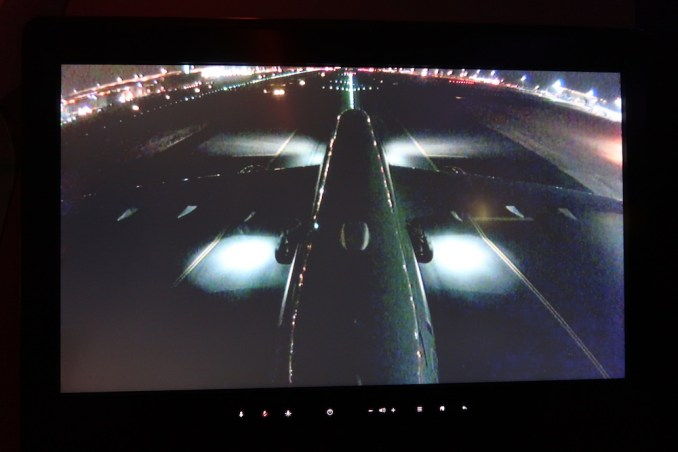 QATAR AIRWAYS A350 INFLIGHT ENTERTAINMENT: TAIL CAMERA