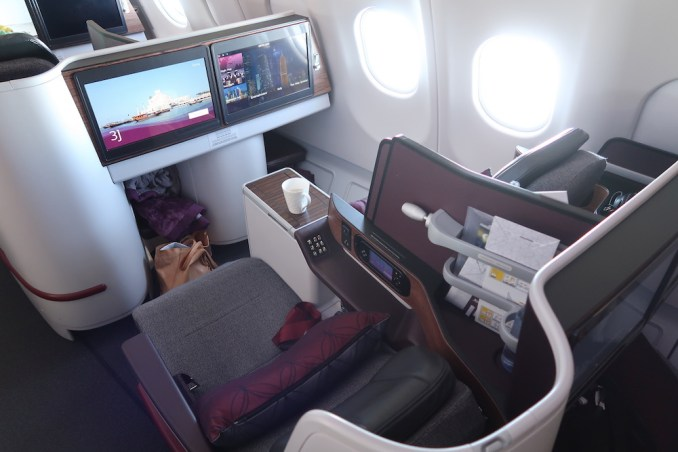 QATAR AIRWAYS A330 BUSINESS CLASS SEAT (AFTER SUNRISE)