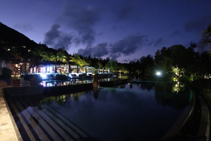 RAFFLES SEYCHELLES: RESORT AT NIGHT