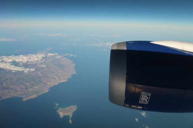 BRITISH AIRWAYS B787: REACHING THE GREEK ISLANDS