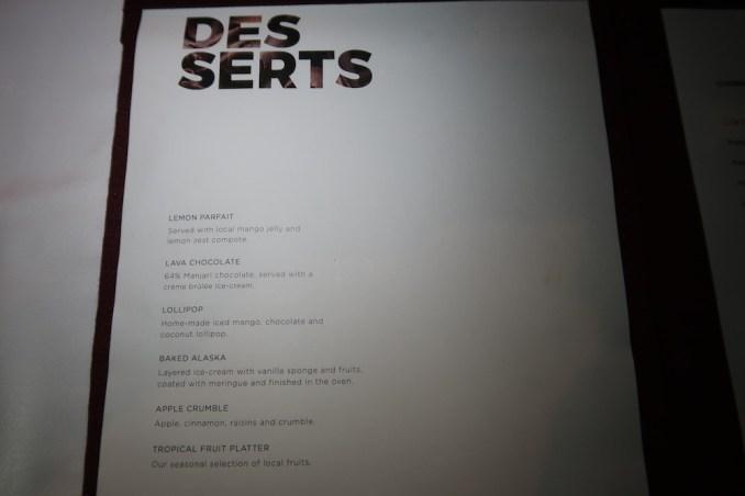 MAIA RESORT SEYCHELLES: DINNER