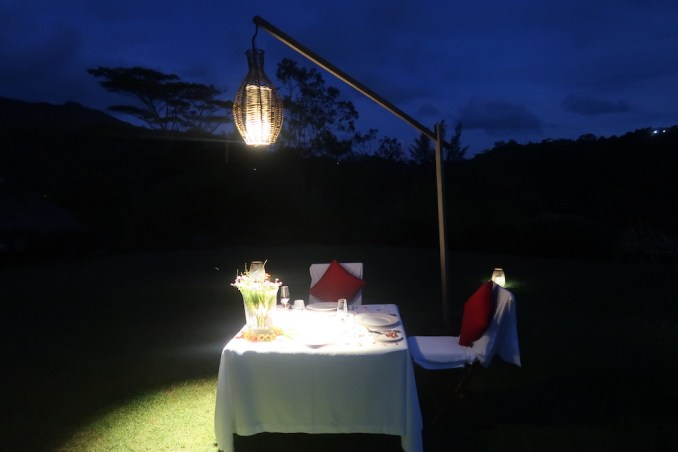MAIA RESORT SEYCHELLES: PRIVATE DINNER