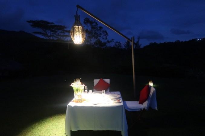 MAIA RESORT SEYCHELLES: PRIVATE DINNER