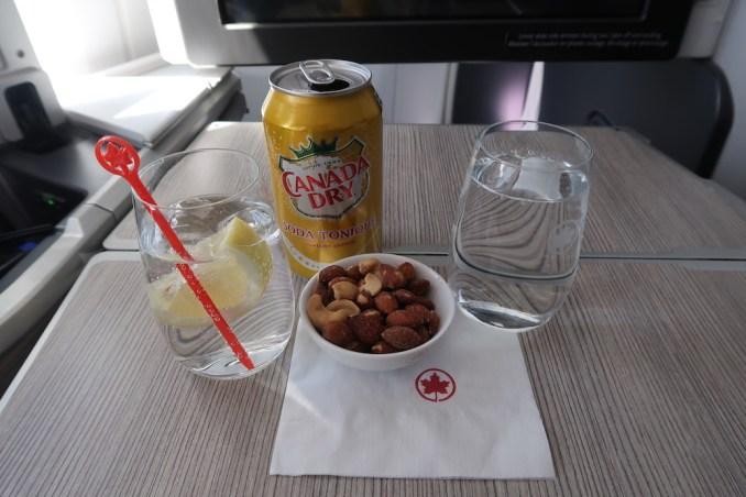 AIR CANADA B787 BUSINESS CLASS: LUNCH