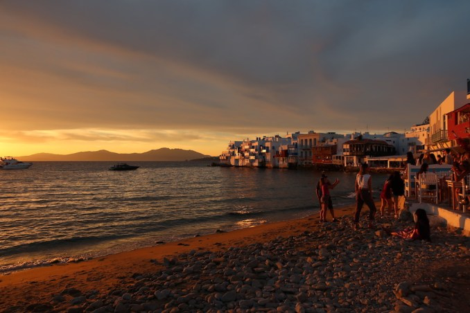 MYKONOS TOWN: IMPRESSIONS (SUNSET)