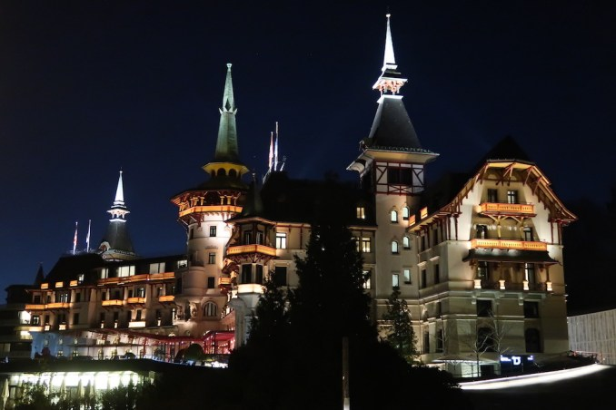 THE DOLDER GRAND AT NIGHT
