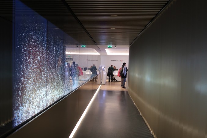 AIR FRANCE LOUNGE AT PARIS CDG AIRPORT: ENTRANCE