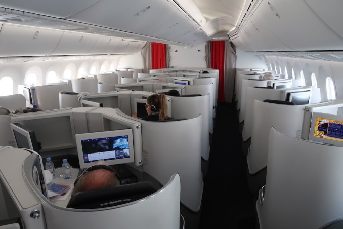 AIR FRANCE B787 BUSINESS CLASS CABIN (IN FLIGHT)