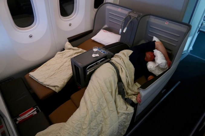 KENYA AIRWAYS B787 BUSINESS CLASS SEAT (FLATBED POSITION)